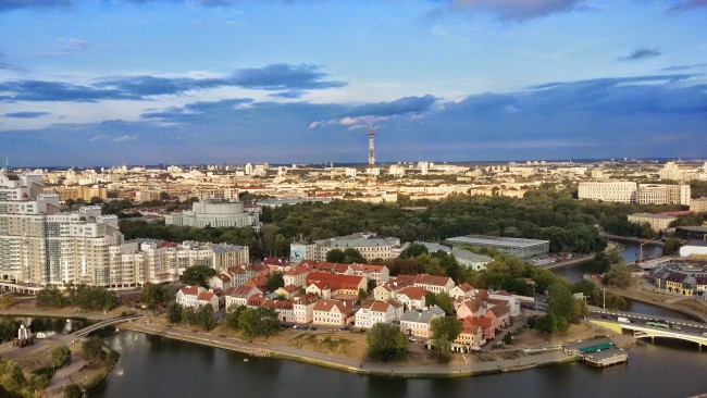 Minsk._A_view_of_Svislach_river